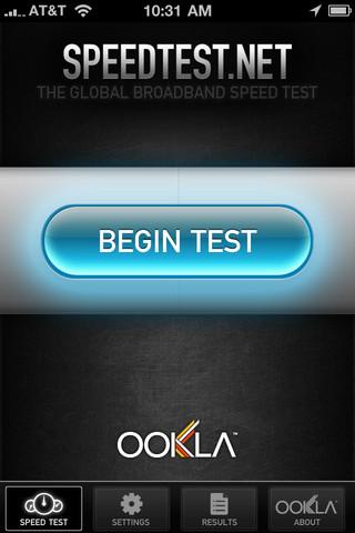 Speedtest.net Mobile Speed Test - оцени скорость работы сети под iOS
