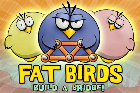 Игра Fat Birds Build a Bridge.