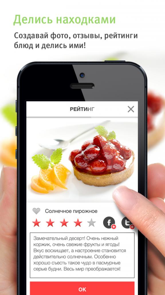 Рейтинг понравившихся блюд